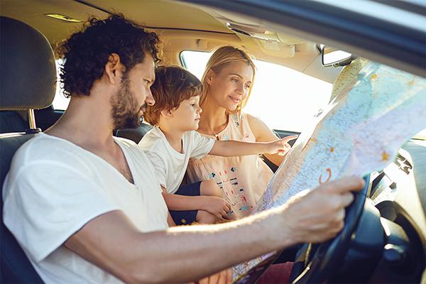 famille voiture vacances