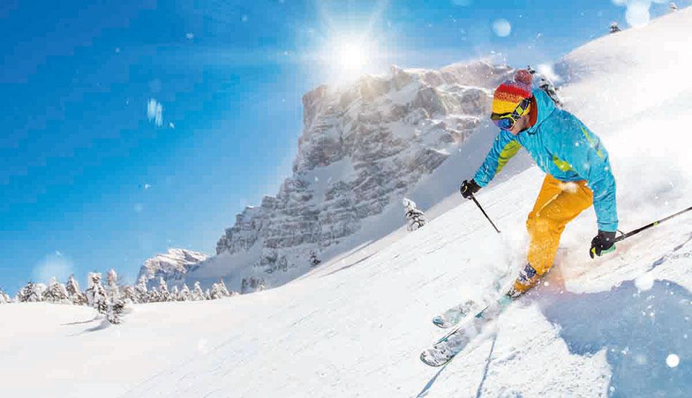 vacances skieur neige