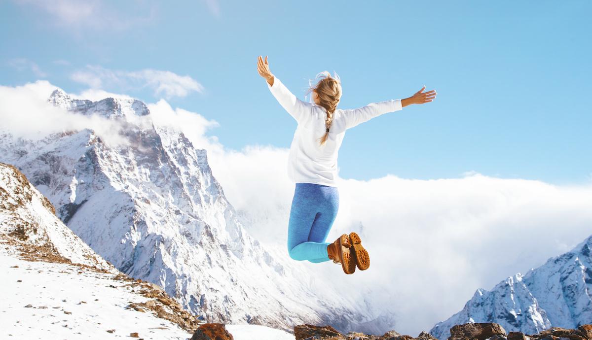 vacances hiver montagne fille