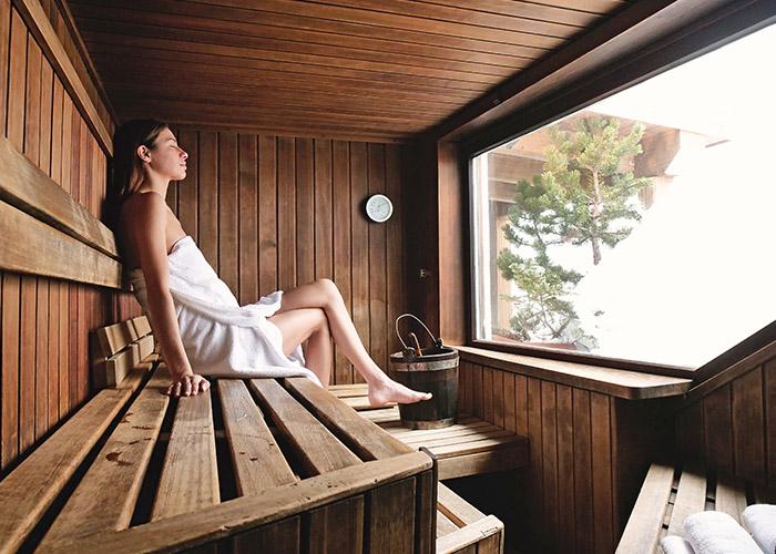 Vacances hiver bien-être sauna
