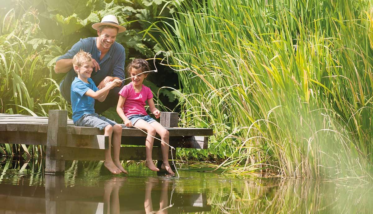 vacances nature pêche famille